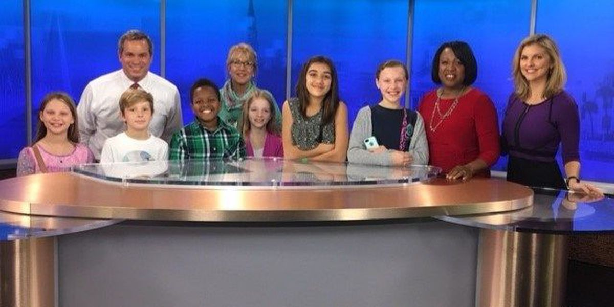 Howe Hall students visit Live 5 News