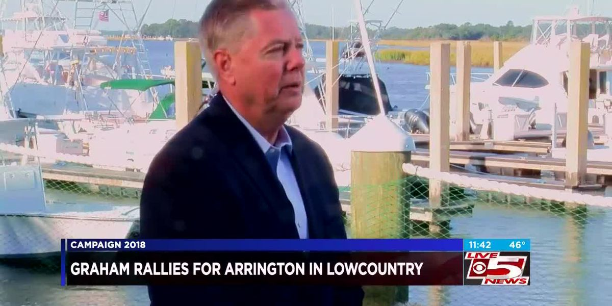VIDEO: SC Senator Lindsey Graham rallies in Charleston