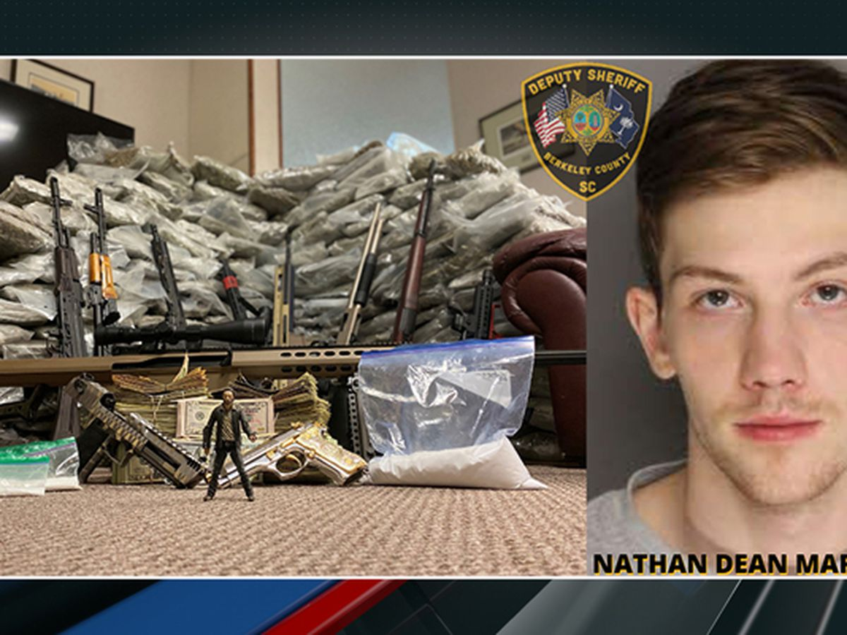 Tips lead to discovery of more than 200 pounds of drugs, rifles at Crowfield Plantation home