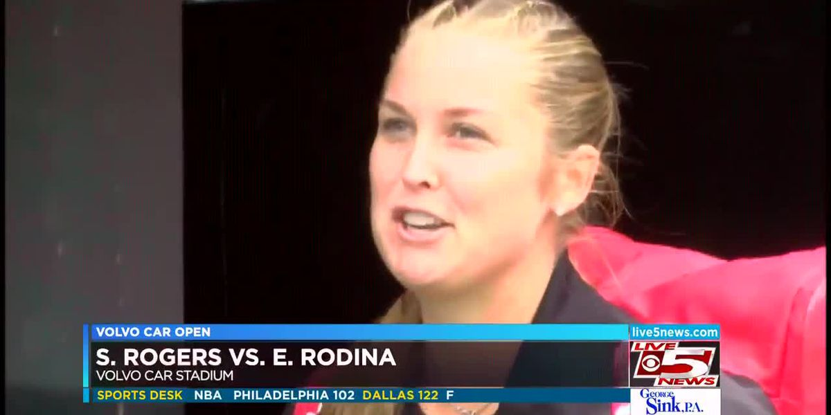 VIDEO: Rogers, Ostapenko win on 1st day of Volvo Car Open