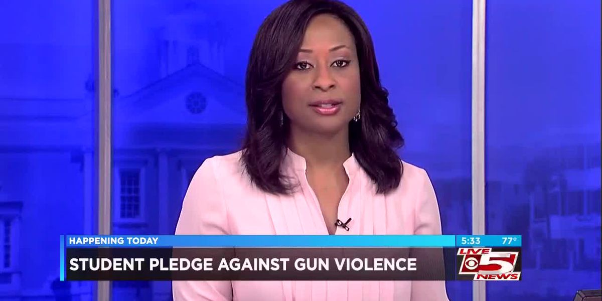VIDEO: Students to take pledge against gun violence
