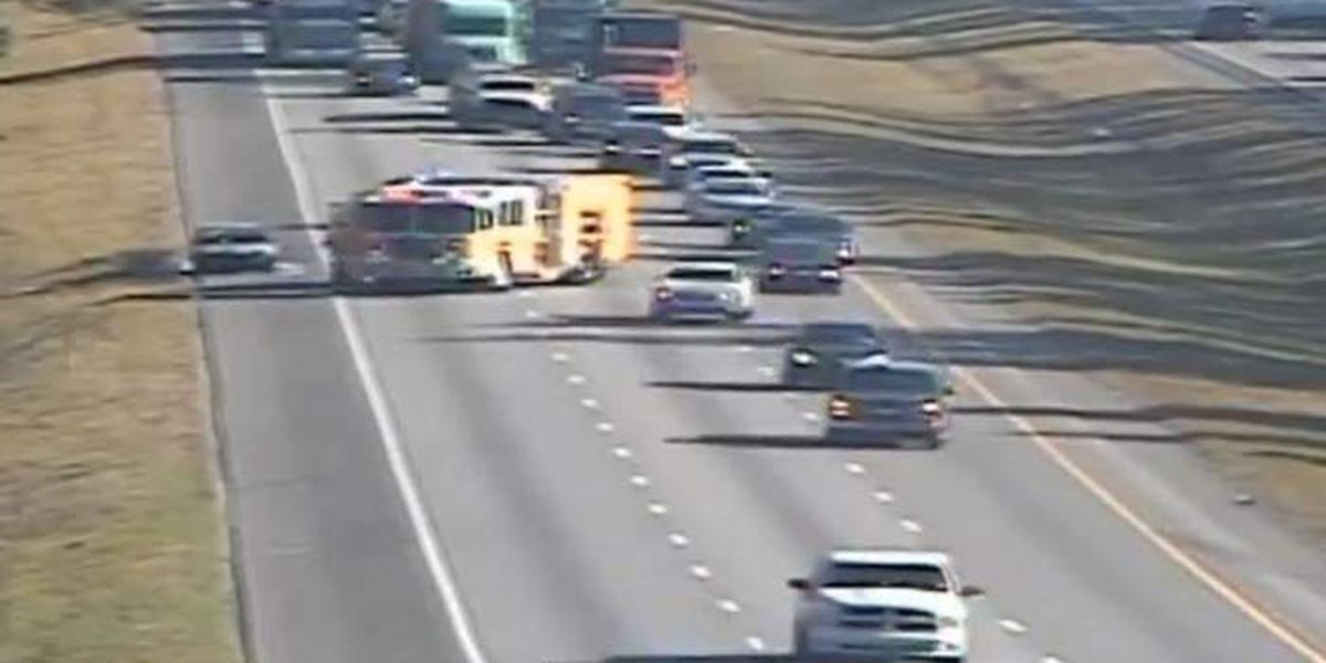 Westbound lanes of I-26 reopen after vehicle fire