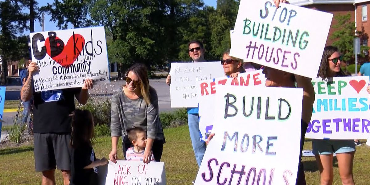 Cane Bay parents protest kindergarten lottery registration and school zoning