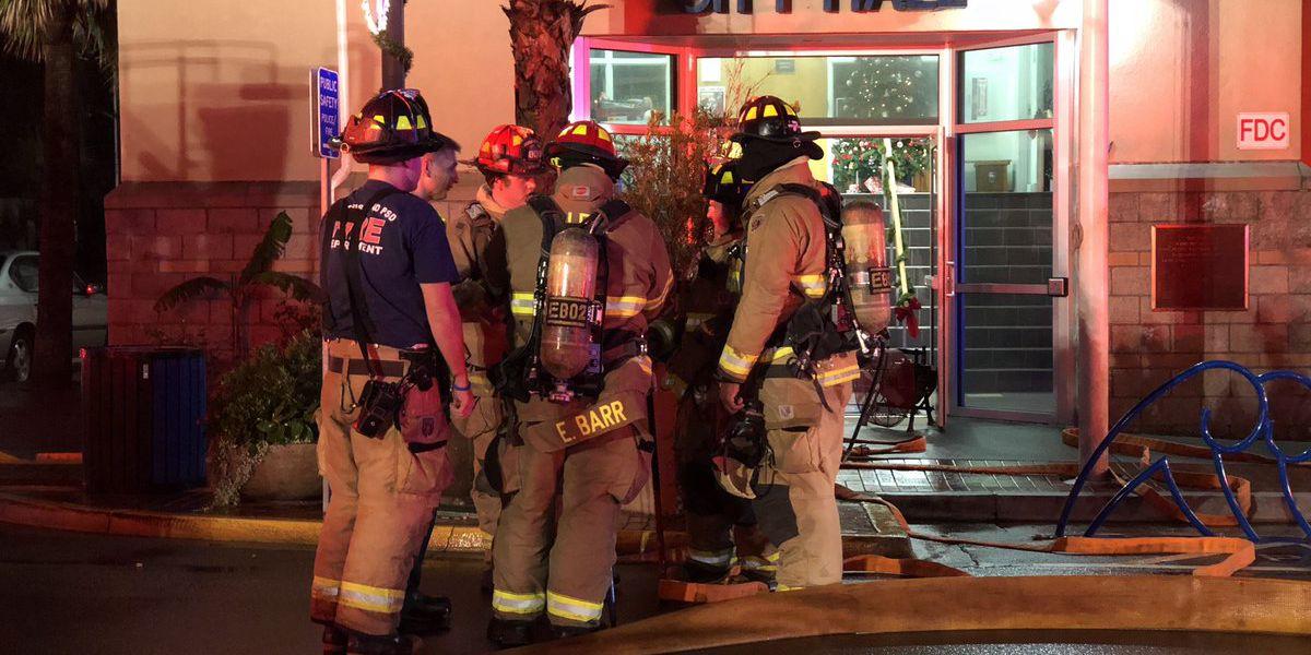 Folly Beach fire crews respond to smoke in City Hall building