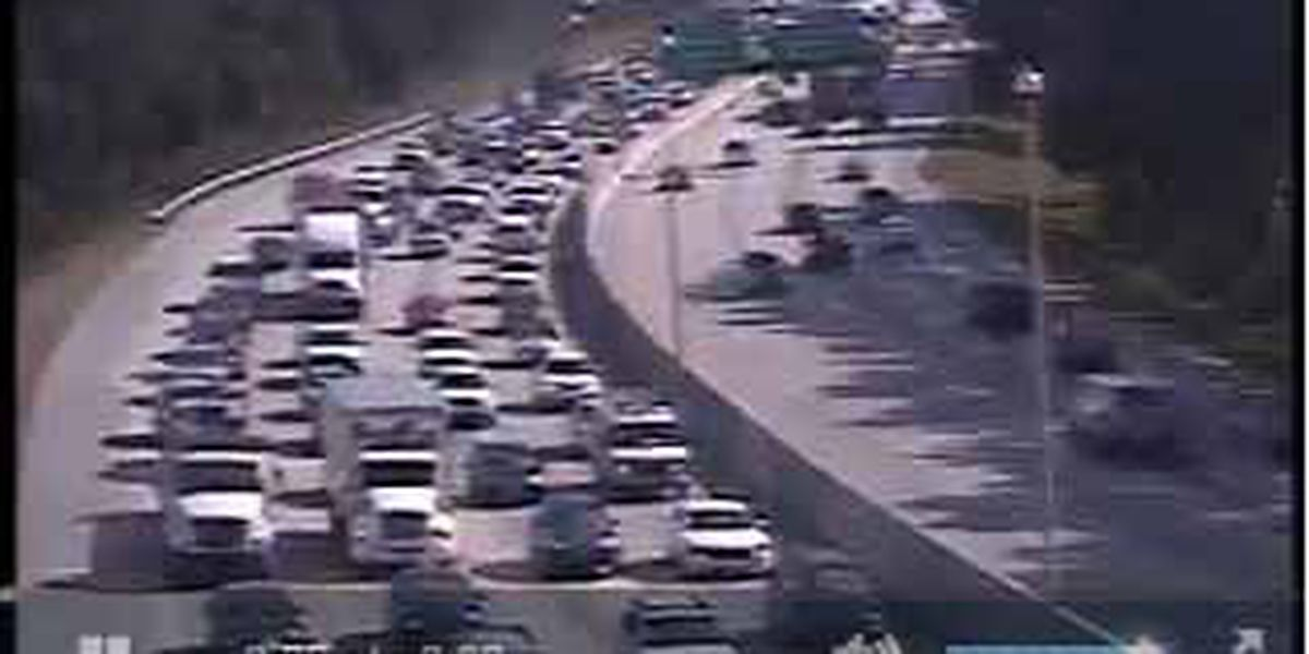I-26 westbound traffic in N. Charleston moving slowly following accident.