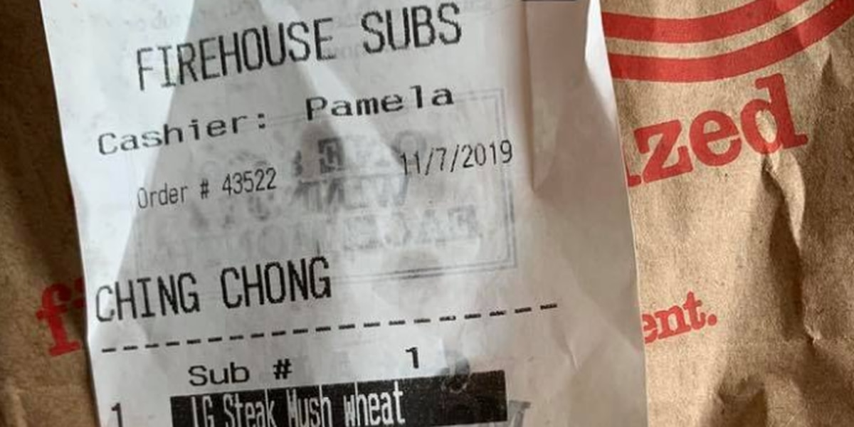 Firehouse Subs employee fired after writing racial slur on receipt