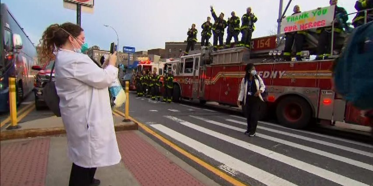 FDNY salutes hospital workers