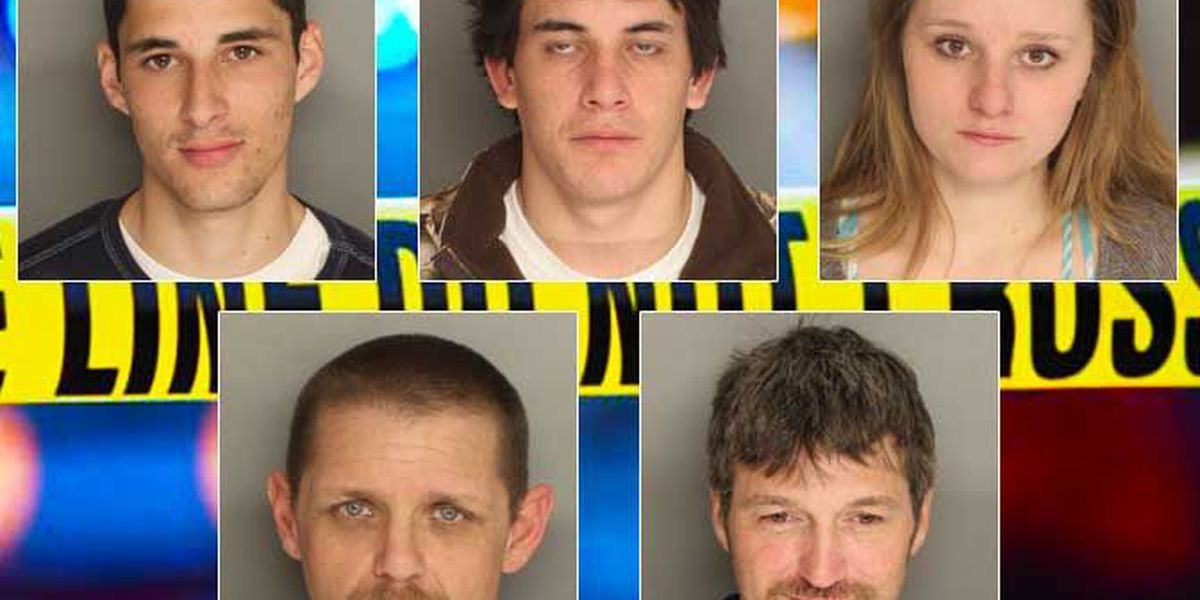 Five arrested in connection to several burglary cases in Berkeley County