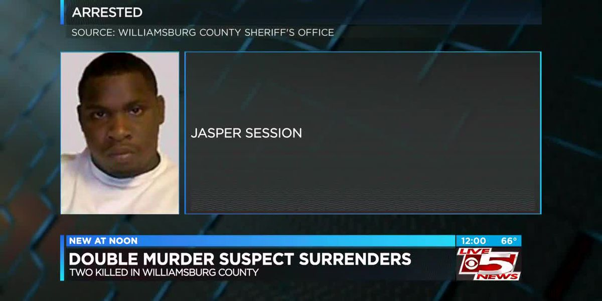 VIDEO: Double murder suspect surrenders in Williamsburg County