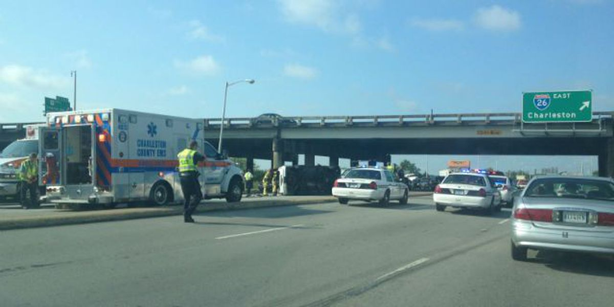 Four freed from overturned vehicle; Cosgrove Avenue reopened