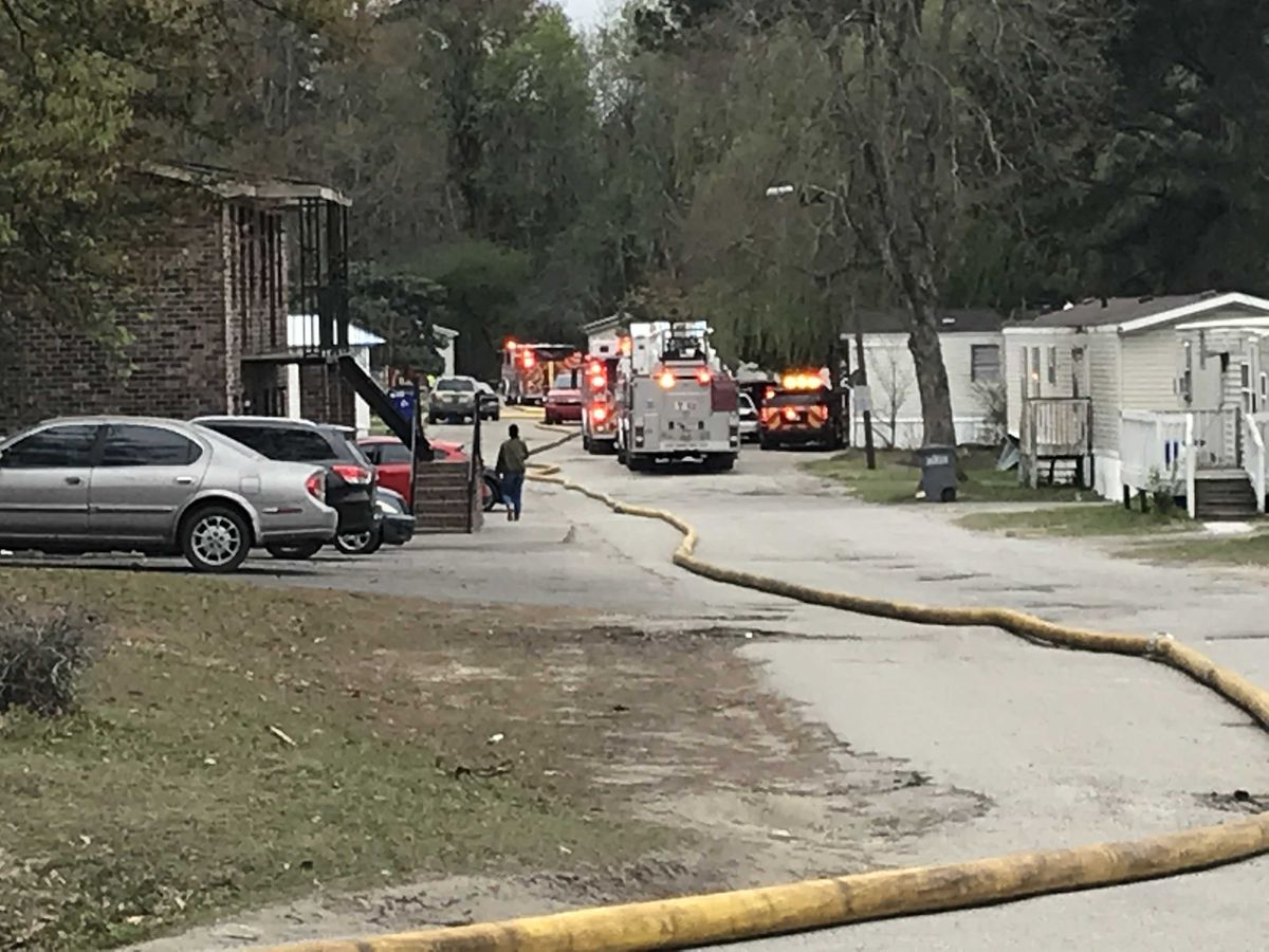 Families displaced after North Charleston fire damages two mobile homes