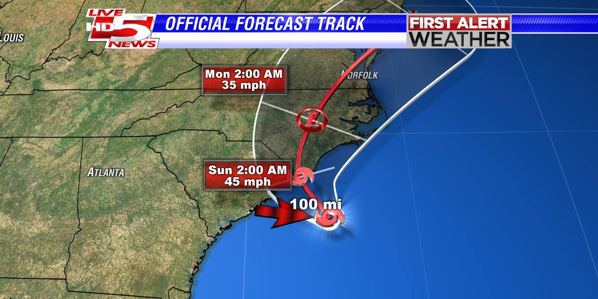 FIRST ALERT WEATHER: Ana upgraded to tropical storm, continues slow track toward Myrtle Beach
