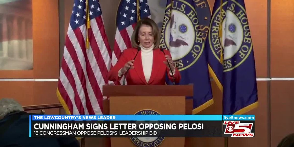 VIDEO: Cunningham signs letter opposing Pelosi