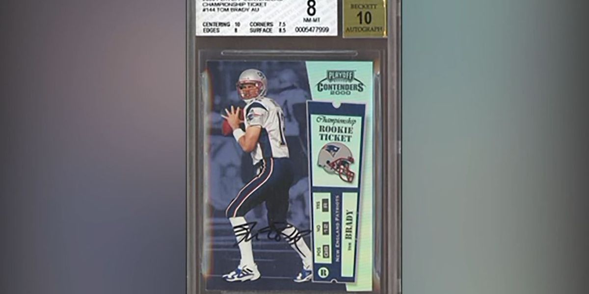 Tom Brady rookie card goes for record $1.32 million