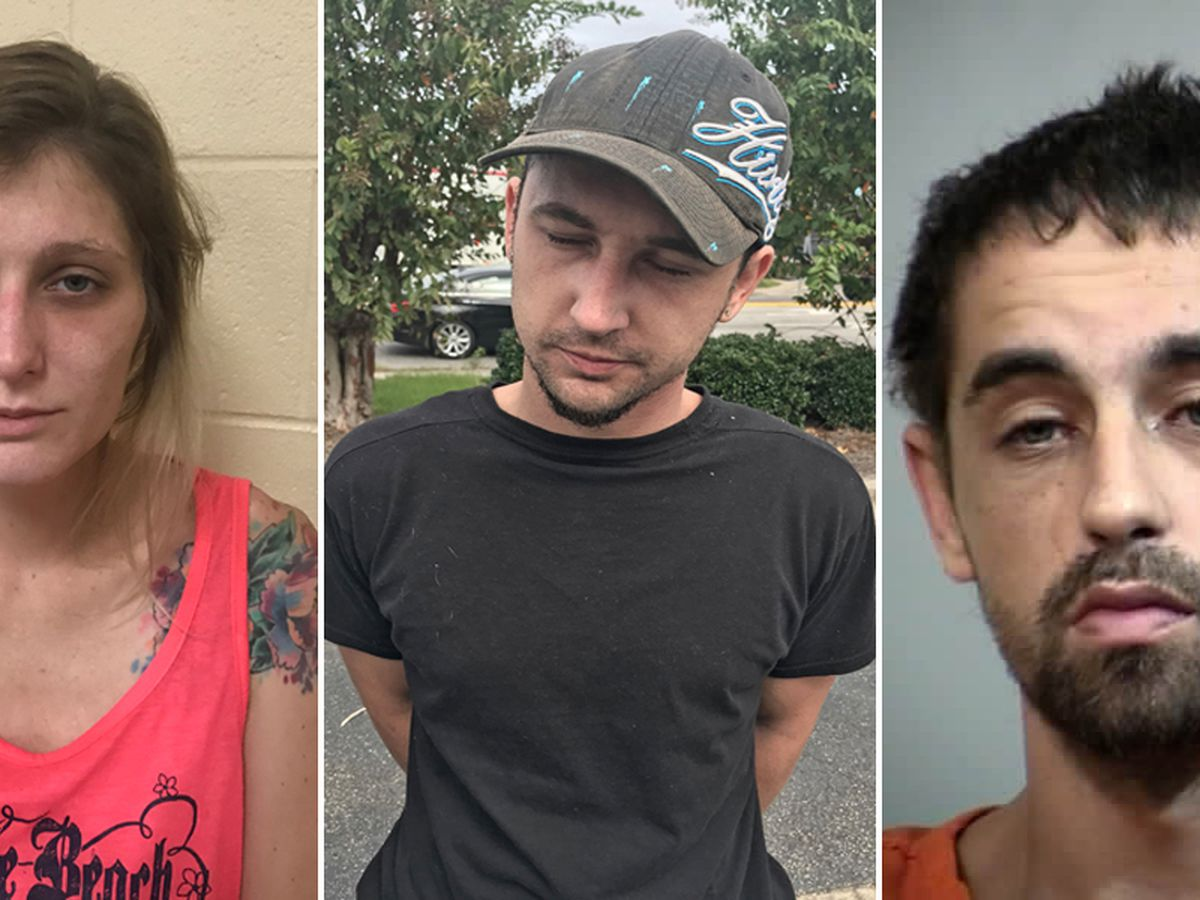 Trio arrested on multiple charges for car break-ins