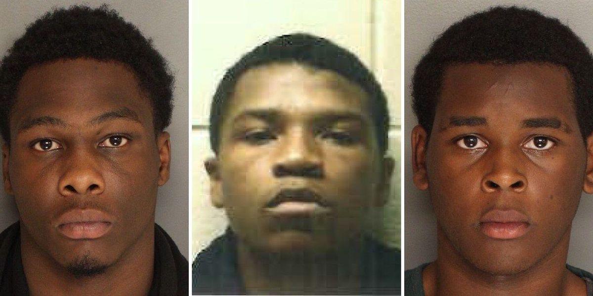 Trio behind bars accused of shooting woman at Goose Creek home