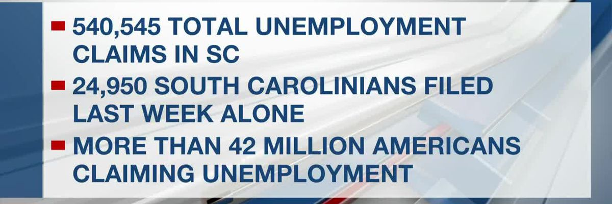VIDEO: Despite weekly drop in new claims, S.C. unemployment still growing