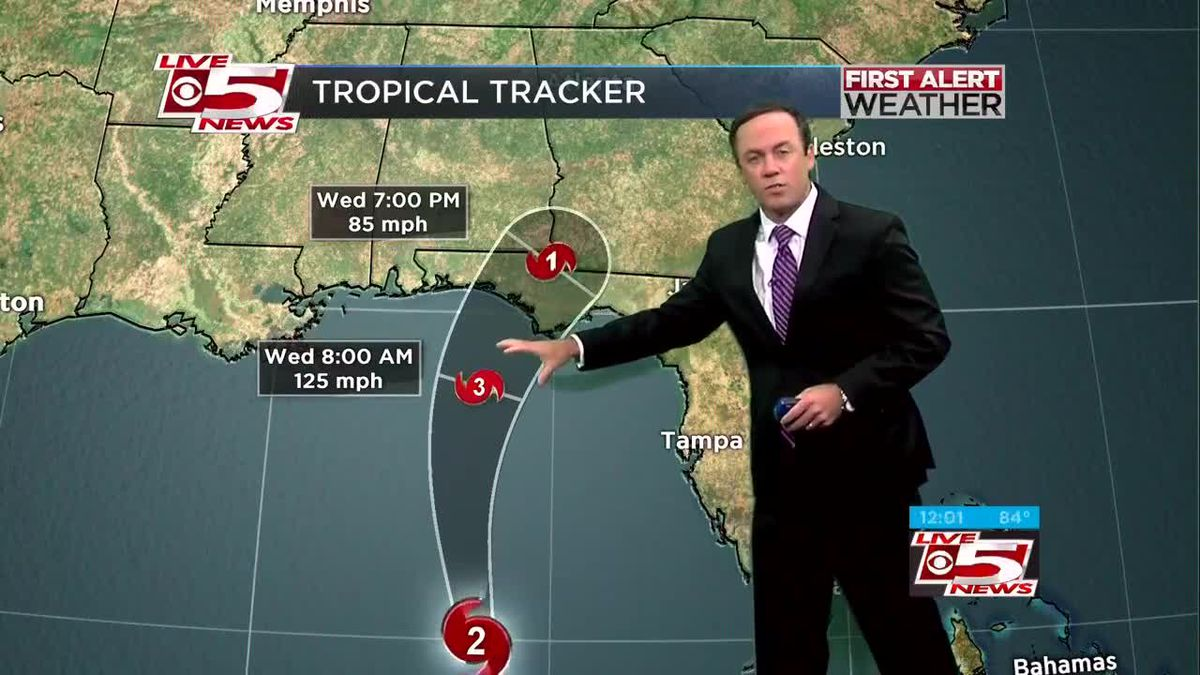 VIDEO: Michael now a Category 2 storm