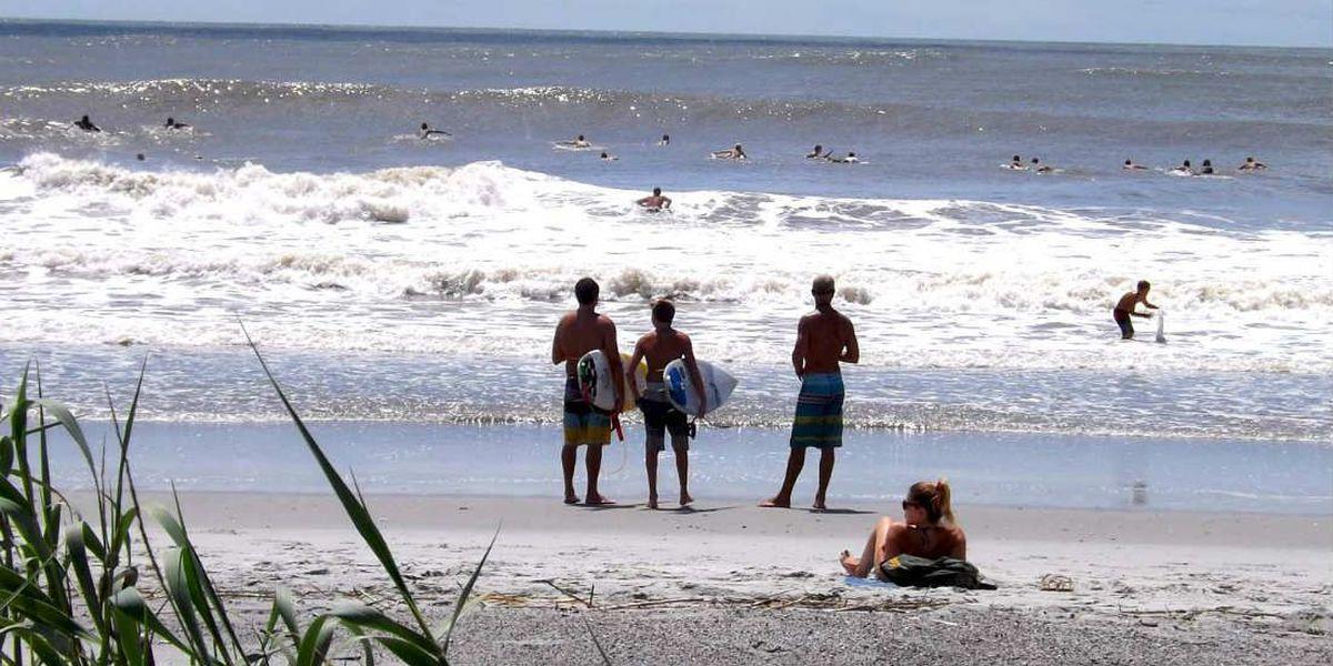 Bertha turns Folly Beach into surfer's paradise