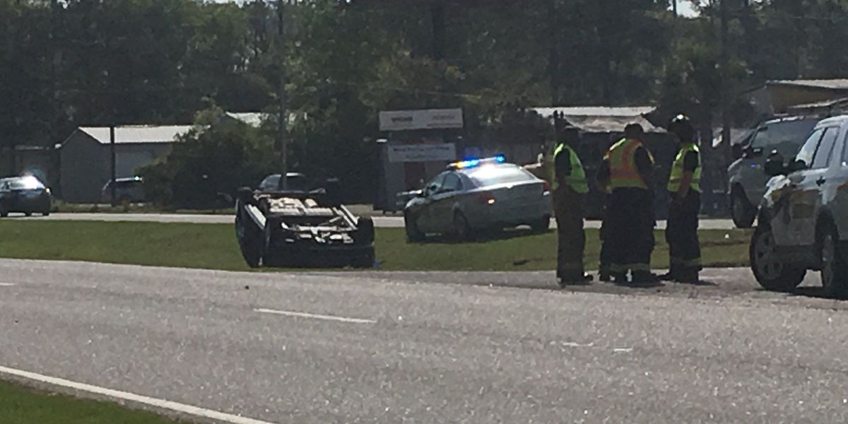 Savannah Highway in Ravenel reopens after crews work overturned truck accident