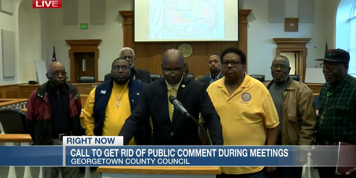 VIDEO: NAACP denounces call for end of public comments during Georgetown County Council meetings