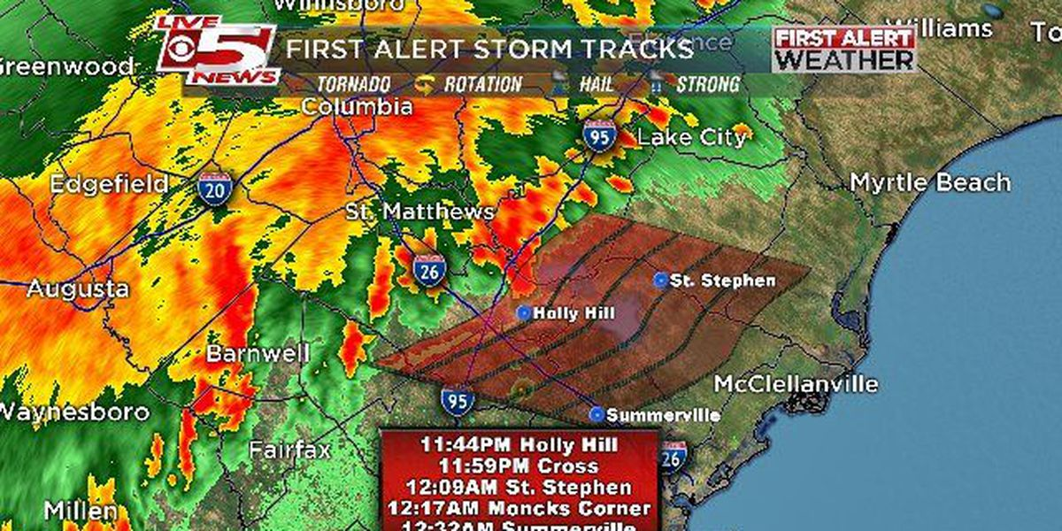 Severe thunderstorm watch in effect until 2 a.m. for portions of the Lowcountry