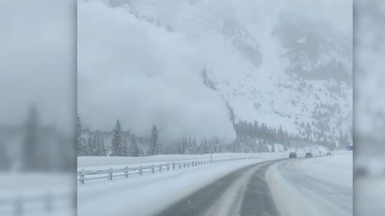 WATCH: Avalanche crashes down on interstate in Colorado
