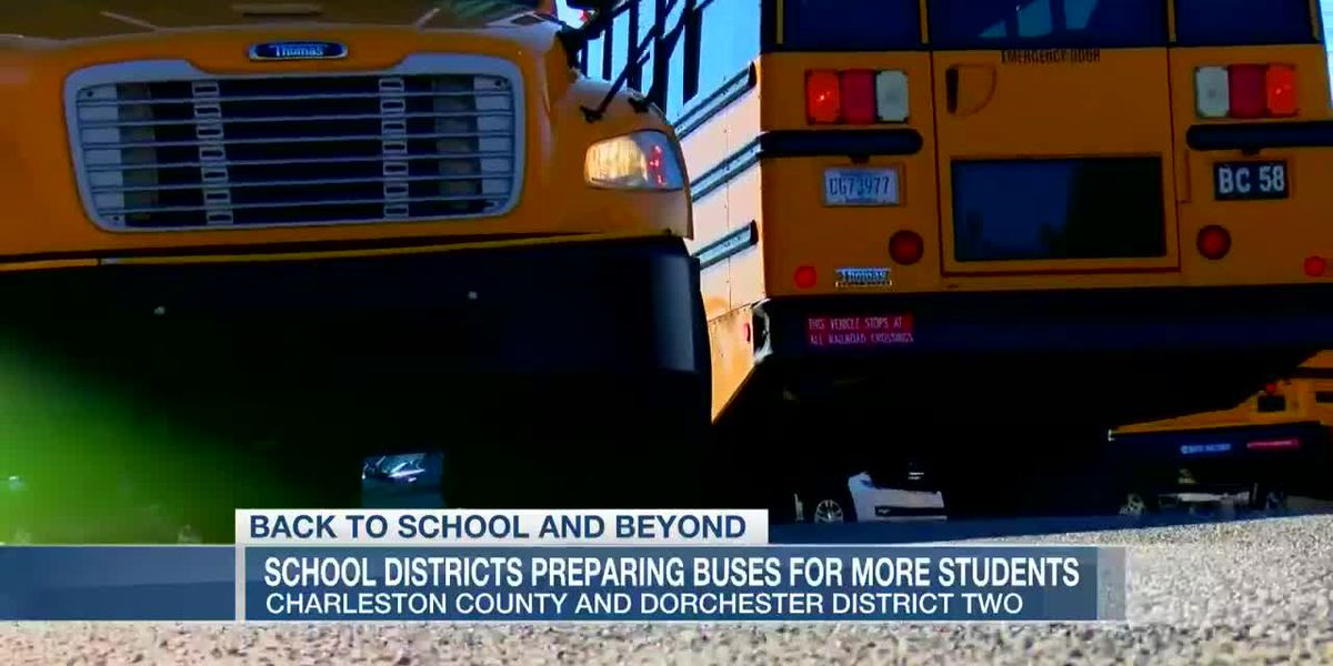 VIDEO: Charleston, Dorchester Co. Schools prepare buses for influx of students