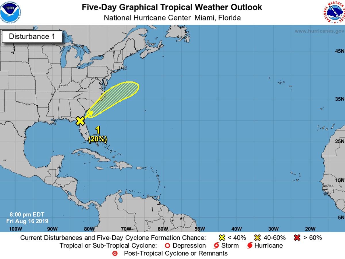 Disturbance in Florida could bring heavy rain to South Carolina