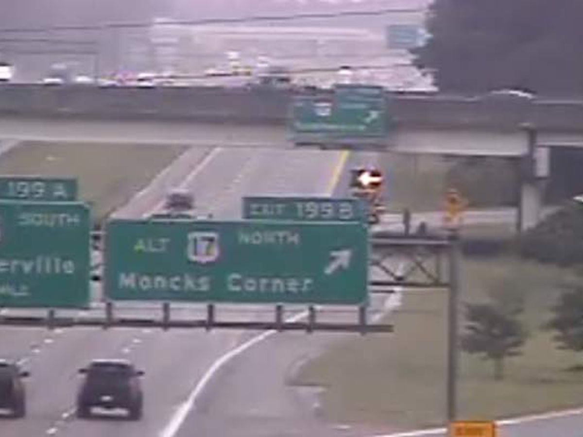FIRST ALERT: One hospitalized after vehicle overturns on I-26 off-ramp