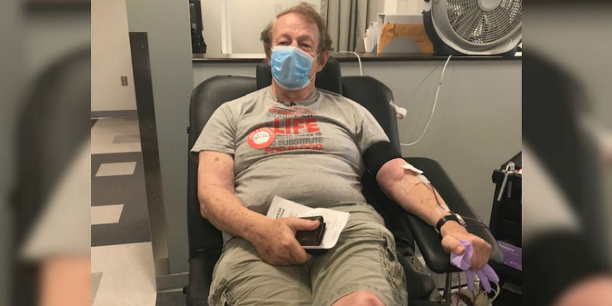 Man donates blood for the 300th time