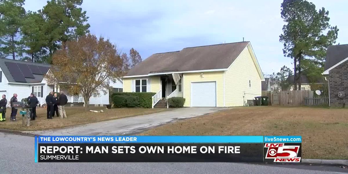 Police: Man who set neighbors' decorations on fire also burned own home