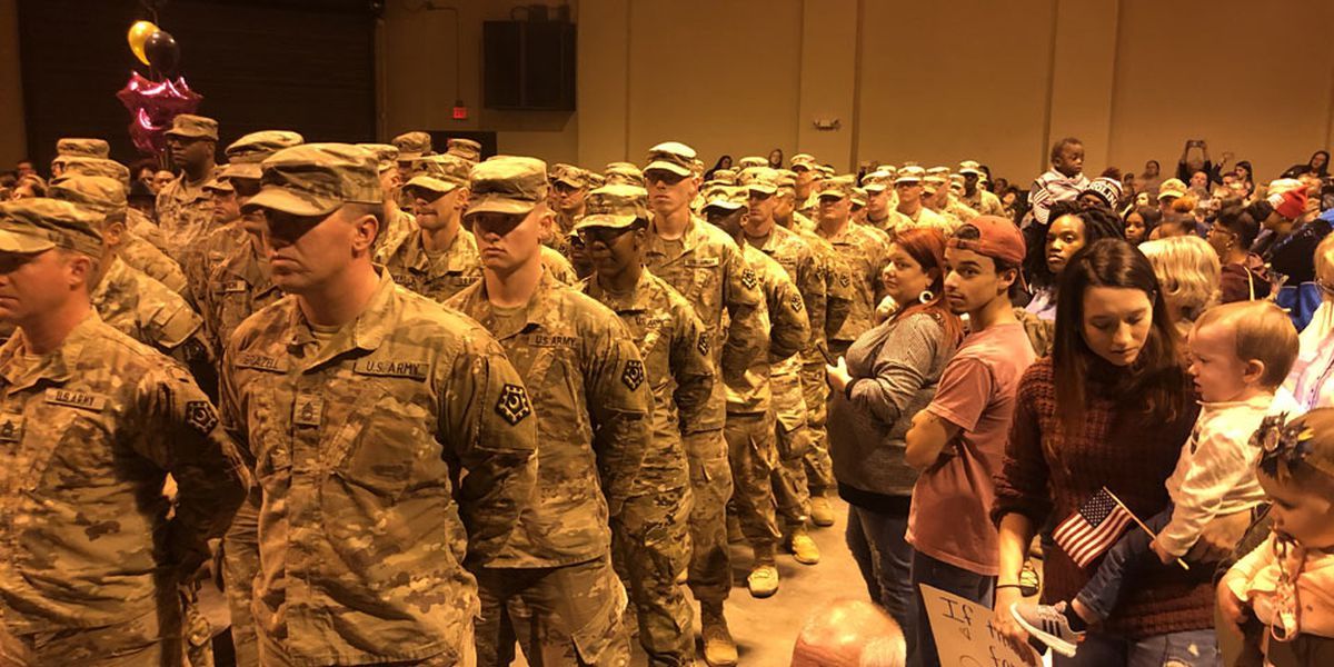 140+ soldiers welcomed home after overseas deployment