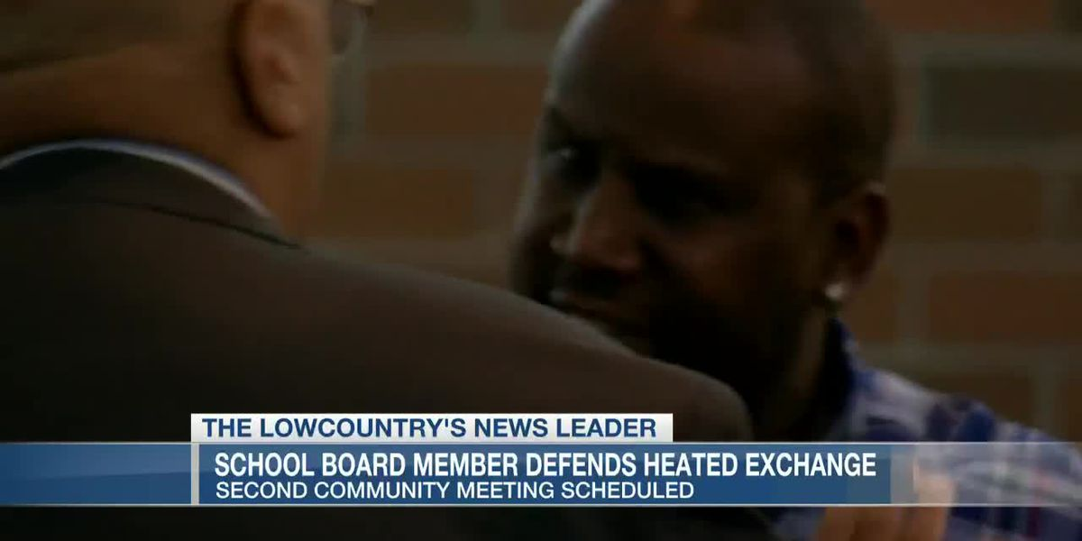 VIDEO: School board member defends decision to take mic from speaker at community meeting