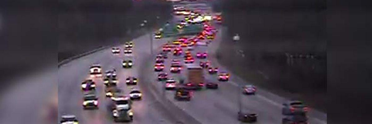 FIRST ALERT TRAFFIC: Morning commute crawls on I-26E after multiple crashes
