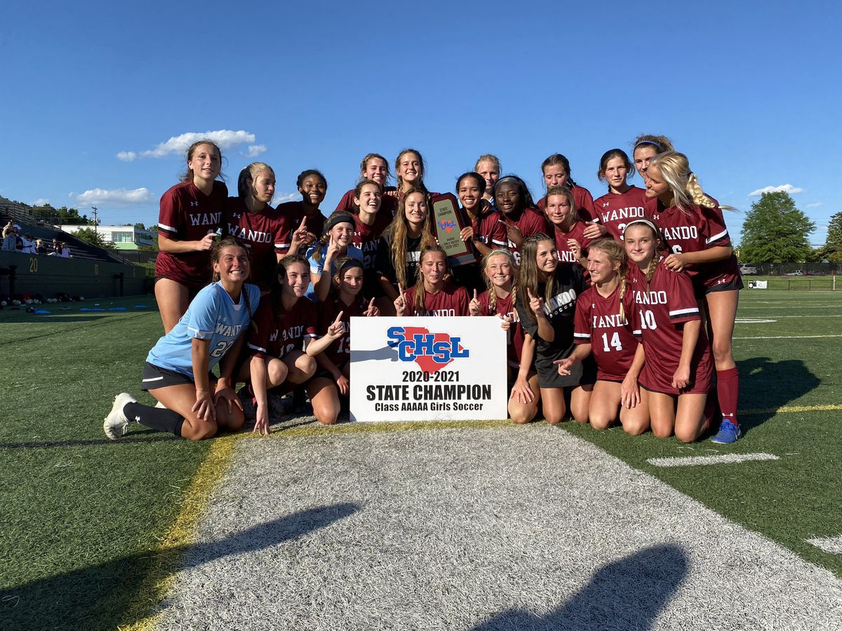 Wando girls soccer wins state title, Palmetto Scholars boys fall short in title game