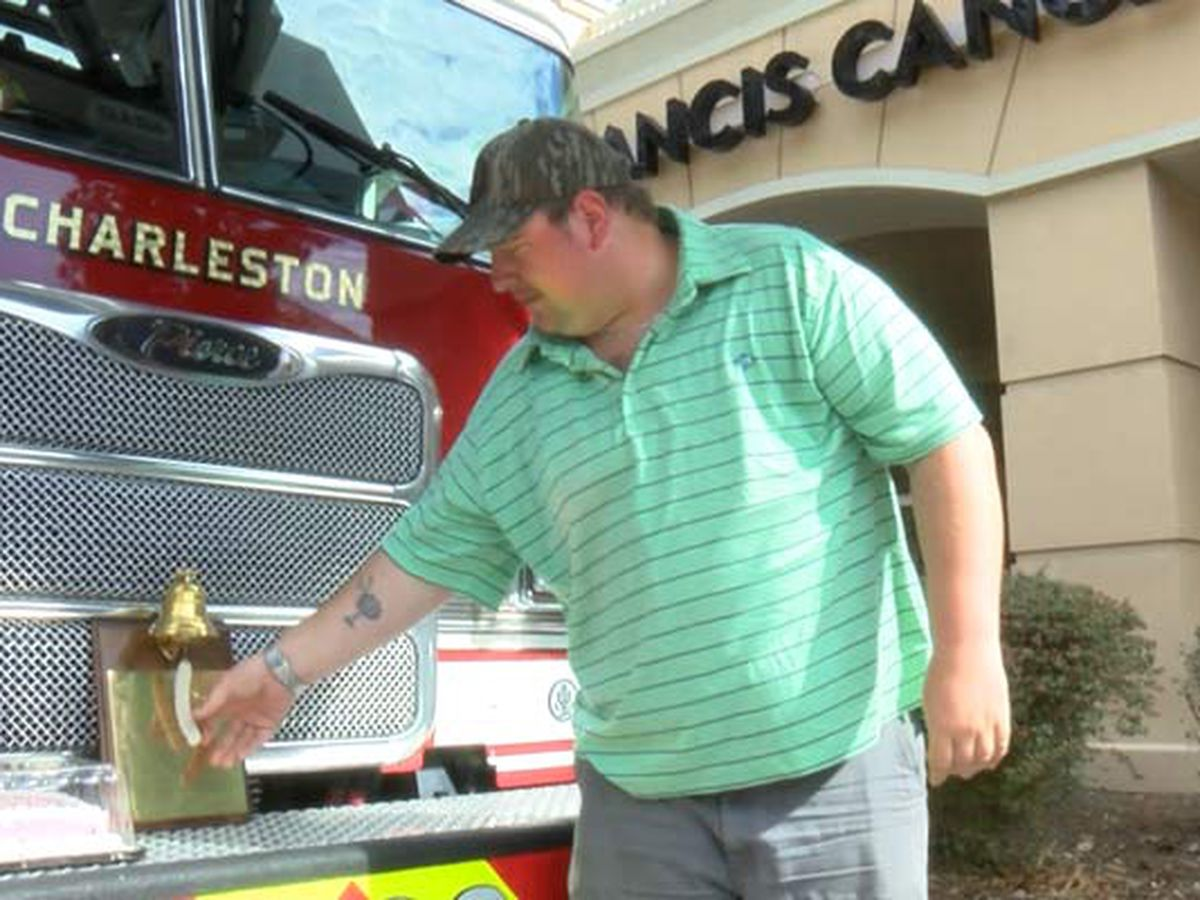 Lowcountry firefighter surprised at bell-ringing to mark end of cancer treatments
