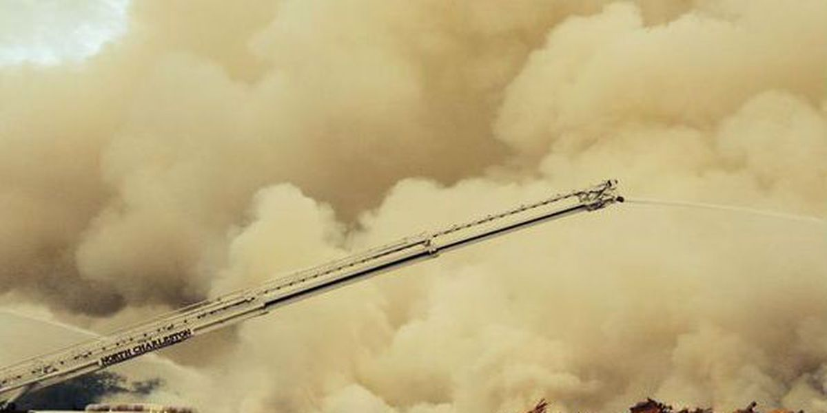 Firefighters continue to battle large pallet blaze at Ladson landfill