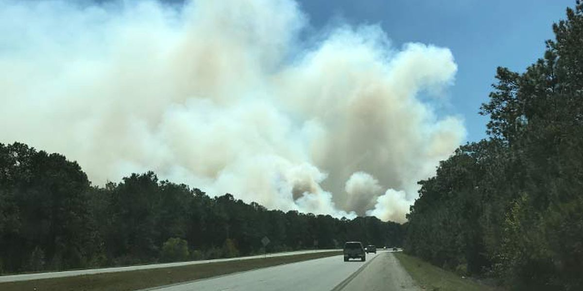 Heavy smoke reported from 1,200-acre controlled burn