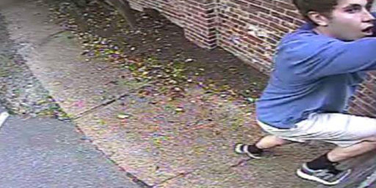 Picture shows graffiti suspect at daycare center