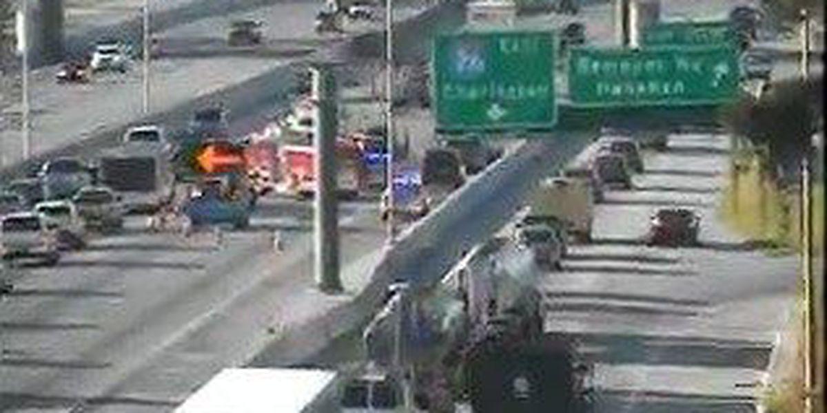 Crash jams traffic on I-26 eastbound