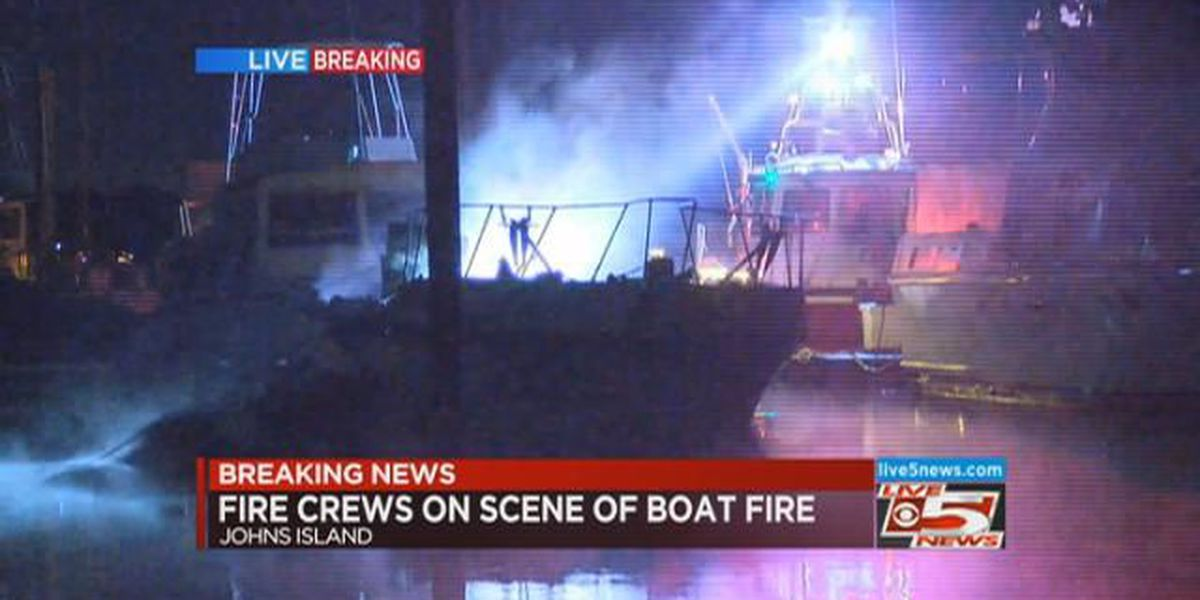 Firefighters extinguish Johns Island boat fire