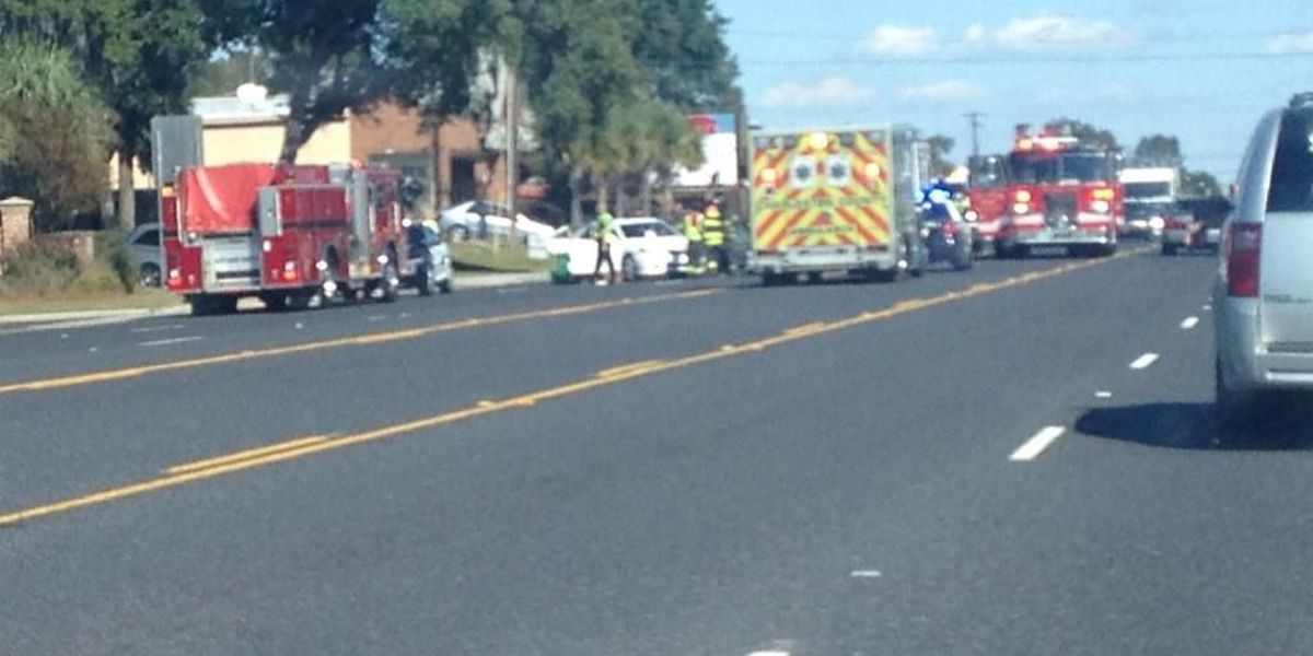 Traffic getting back to normal on Sam Rittenberg following accident