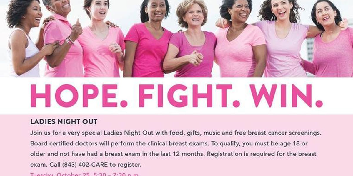 """Roper St. Francis Cancer Center to offer free breast cancer screenings at """"Ladies Night Out"""""""