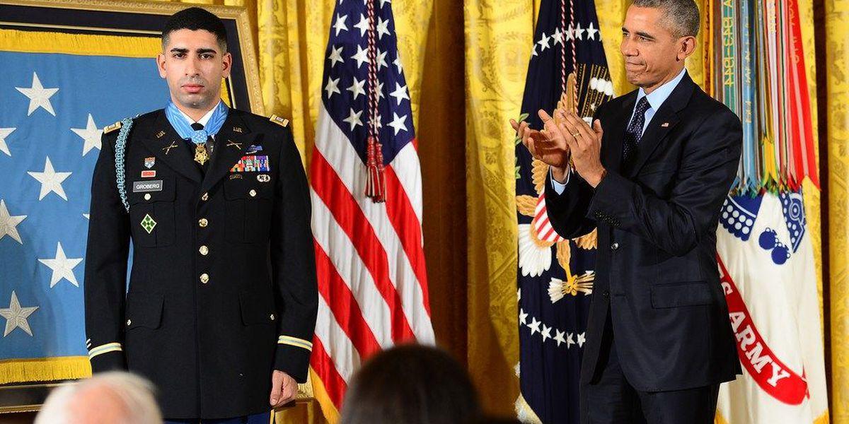 CCSD celebrating Medal of Honor recipient
