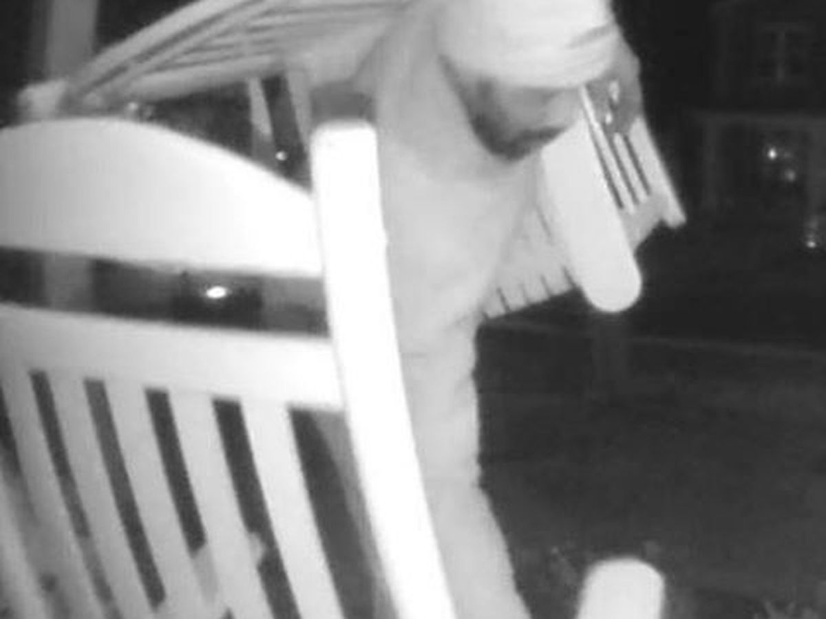 Video shows man stealing rocking chairs from Mt. Pleasant home