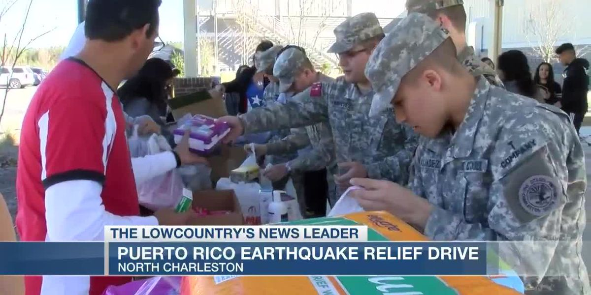 VIDEO: Relief drive underway in N. Charleston to help Puerto Rico earthquake victims