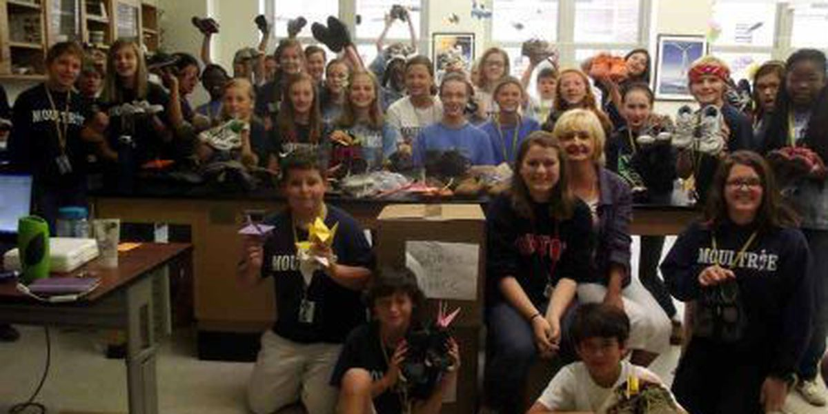 Moultrie students donate 300+ shoes to tornado victims