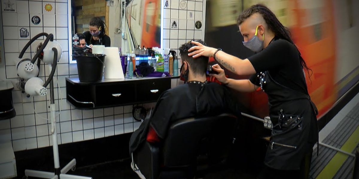 South Carolina salons busy, cautious on first day back open