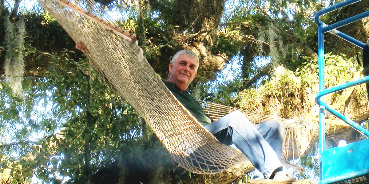Man sets up hammock in Daniel Island tree to stop it from getting cut down